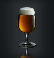 A glass of Belgian beer