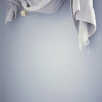 Close-Up Of Ragged Bathroom Towel