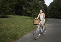 side view of woman on cycle