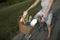 close-up of woman on cycle