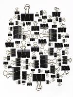organized binder clips 20055016607  写真素材・ストックフォト・画像・イラスト素材 アマナイメージズ