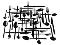 silhouette of arranged silverware 20055016634  写真素材・ストックフォト・画像・イラスト素材 アマナイメージズ