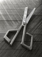 Japanese scissors on wood