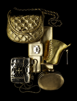 bags and accessories on black