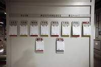 Work schedule at a distribution warehouse. 20055017269  写真素材・ストックフォト・画像・イラスト素材 アマナイメージズ