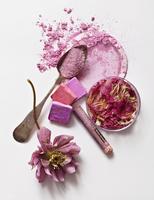 pink pigment/botanical still life