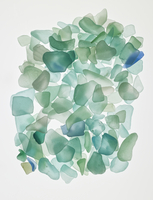 sea glass pieces on still life