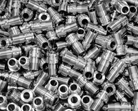 Stainless steel turned part. Portion of valve. 20055017675  写真素材・ストックフォト・画像・イラスト素材 アマナイメージズ