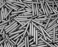Stainless steel turned part. Cylindrical pin (coffee machine). 20055017676  写真素材・ストックフォト・画像・イラスト素材 アマナイメージズ