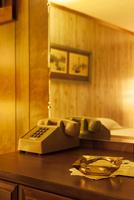 rustic interior inside a motel