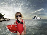 young Baywatch girl