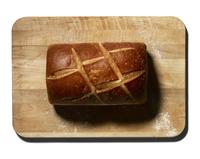 Loaf of bread on a cutting board