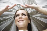 a bride under her veil