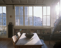 Morning Light Shining Through Apartment Kitchen Window