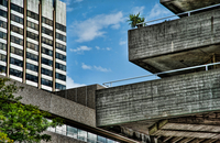 A Concrete Detail Of The National Theatre On The Southbank.