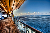 Looking Out From Deck 4 On The Disney Cruise Ship To The Middle Of The Atlantic Ocean.