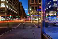 Traffic And Motion And Light Streaks At 5Th Avenue In Nyc
