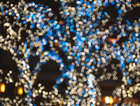 Blue Orange Abstract Lights At Night