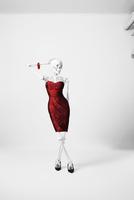 a skeleton posing in a fashionable dress 20055019927| 写真素材・ストックフォト・画像・イラスト素材|アマナイメージズ