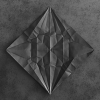 unfolded origami paper crane