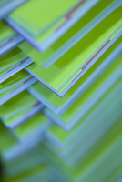 close-up on printed brochures