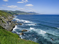 Camino de Santiago, North route. View of  cliffs in Pobe_a