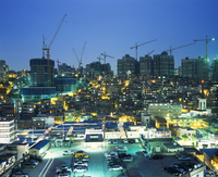Low-rise Buildings and New Towers Under Construction in Central Seoul