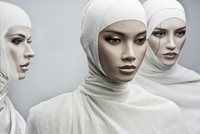 mannequins with bandage in white