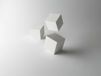 Tumbling Cubes on White Background 20055021013| 写真素材・ストックフォト・画像・イラスト素材|アマナイメージズ