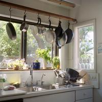 Dappled light in the kitchen