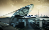 Maglev train station 20055022035| 写真素材・ストックフォト・画像・イラスト素材|アマナイメージズ