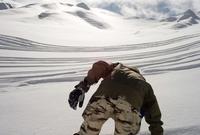 Bowl of powder at a resort in Iran
