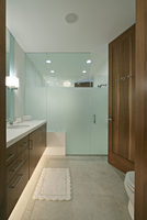 Wood And Glass Bathroom
