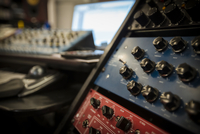 Detail of vintage soundboards, including Crane Song Avocet, Focusrite Pre-Amp and Tube Tech Compressor , at audio engineers work 20055023840| 写真素材・ストックフォト・画像・イラスト素材|アマナイメージズ