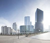 Megacity futuristic scenery in La Defense