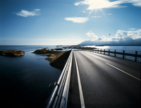 Highway Road Over The Sea. Bridge Norway.