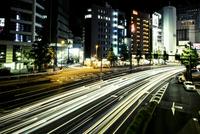 Cars lights at night