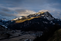 panoramic alps in winter