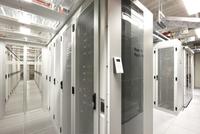 interior of datacenter with access terminal