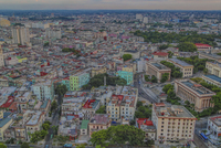 HDR downtown Havana and the steps of the university