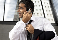 Business Man with I Phone
