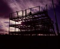 Steel construction framework, Edinburgh, Scotland
