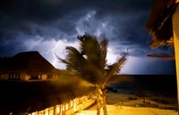 Thunderstorm, Tulum, Mexico