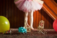 Low section of girl wearing tutu