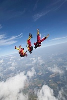 Freefly skydivers