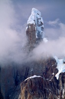 Cerro Torre rising out of mist, Los Glaciares National Park,