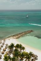 Palm beach, aruba, high angle view