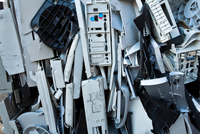 Crushed computer parts