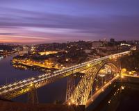 Dom Luis Bridge lit up at night