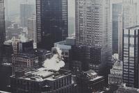 Aerial view of urban skyscrapers